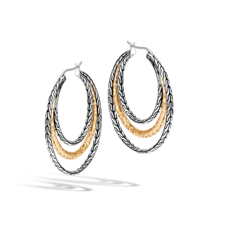 John Hardy Hammered Medium Hoop Earrings