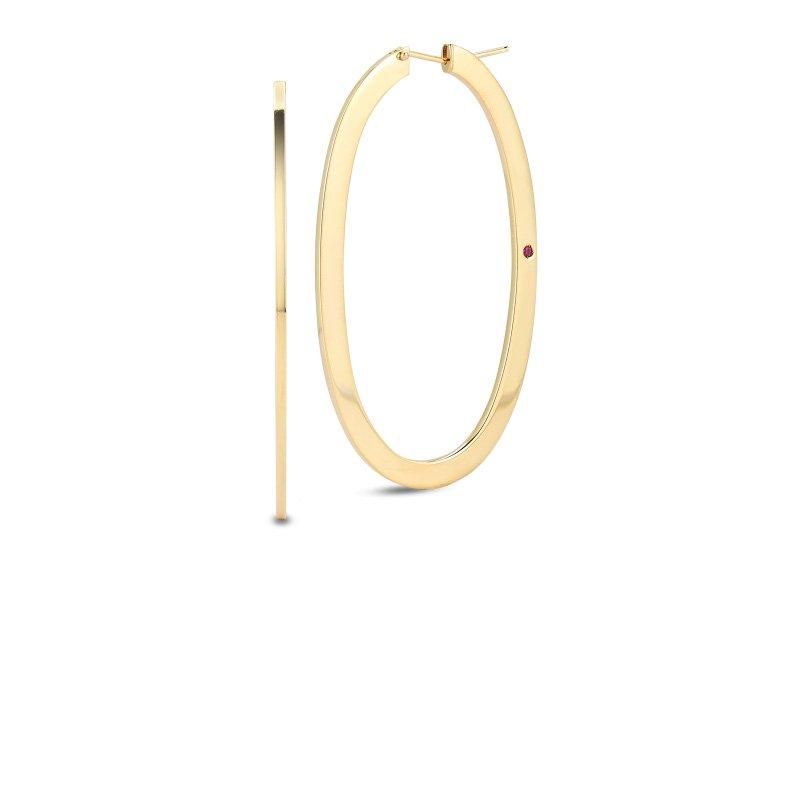Roberto Coin Large Oval Hoop Earrings