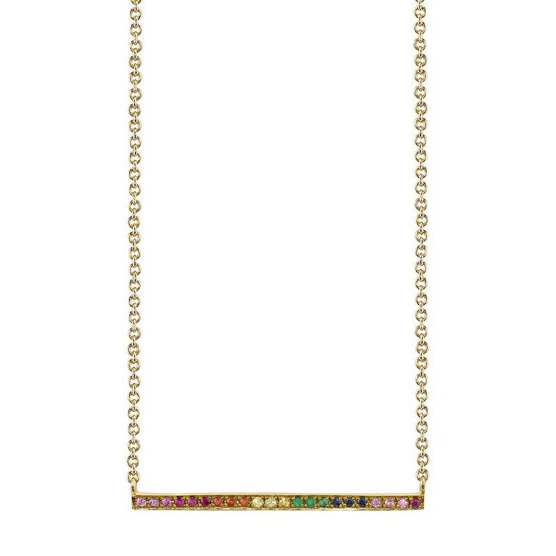 Sydney Evan Long Bar Necklace