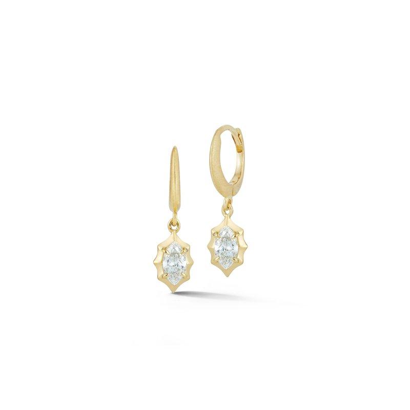 Jade Trau Maverick Single Drop Huggie Earrings