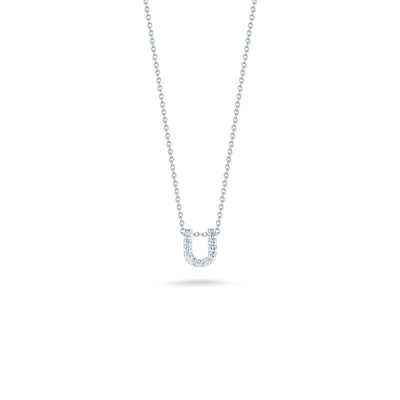 "Roberto Coin Love Letter U Necklace Length 16"" adjustable to 18"""