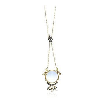 """Looking Glass Necklace Length 28"""""""