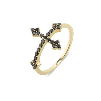 Cross Your Fingers Ring Size 6