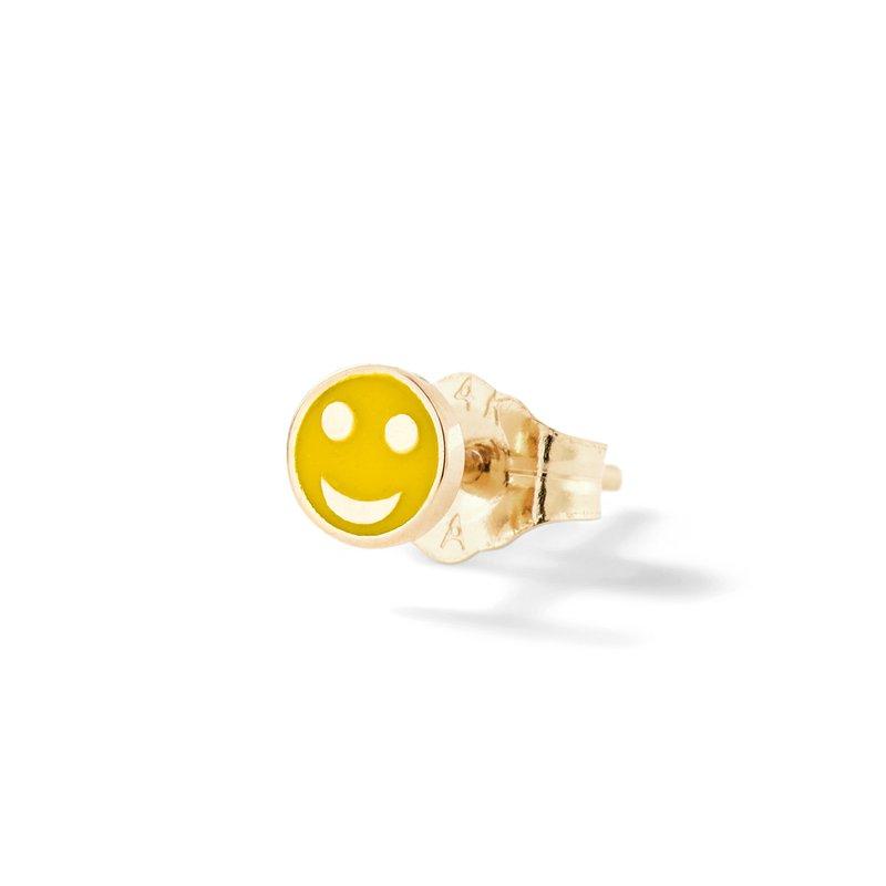 Alison Lou Tiny Happy Face Single Stud Earring