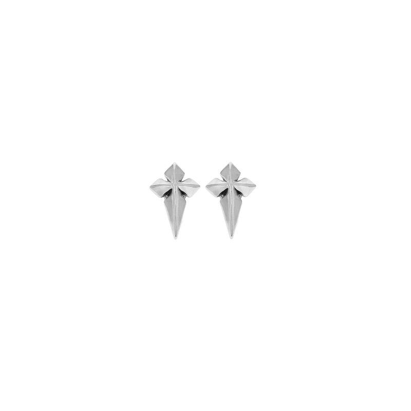 KING BABY Pointed MB Cross Stud Earrings