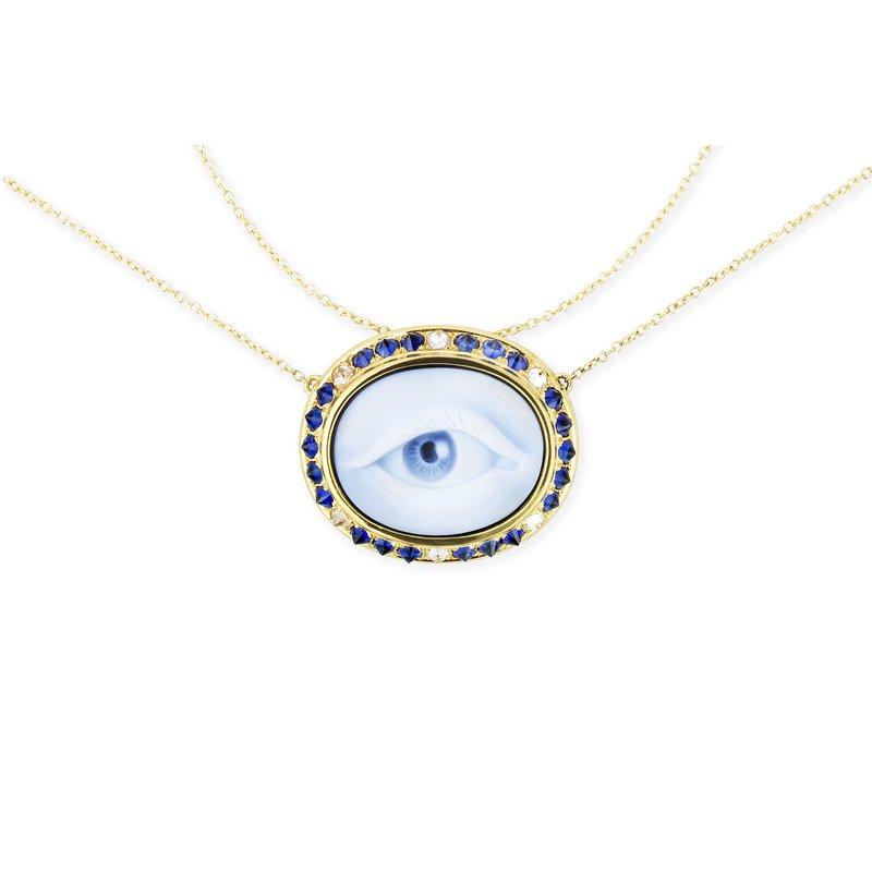 """Ana Katarina Eye Necklace Length 17"""""""