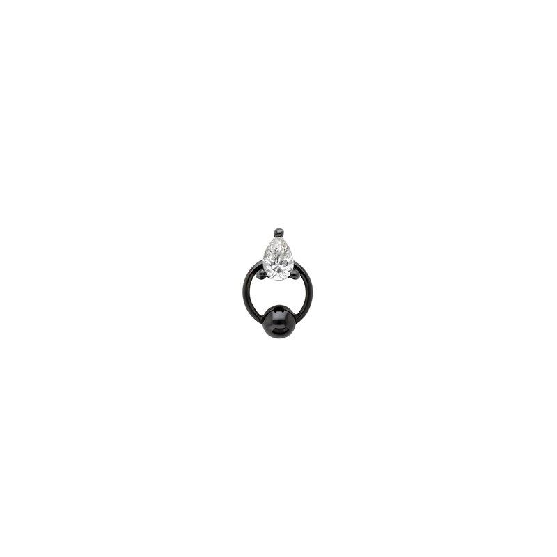 Delfina Delettrez Single Pear Drop Piercing Earring
