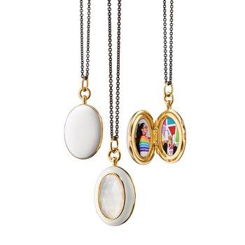 "Oval Locket Necklace 32"" Length"