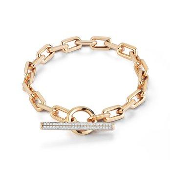 "Toggle Chain Link Bracelet Length 6.5"""
