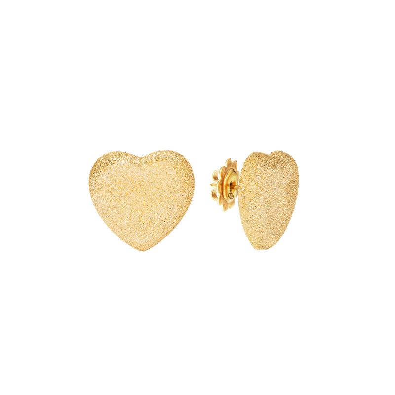 Carolina Bucci Heart Studs Earrings