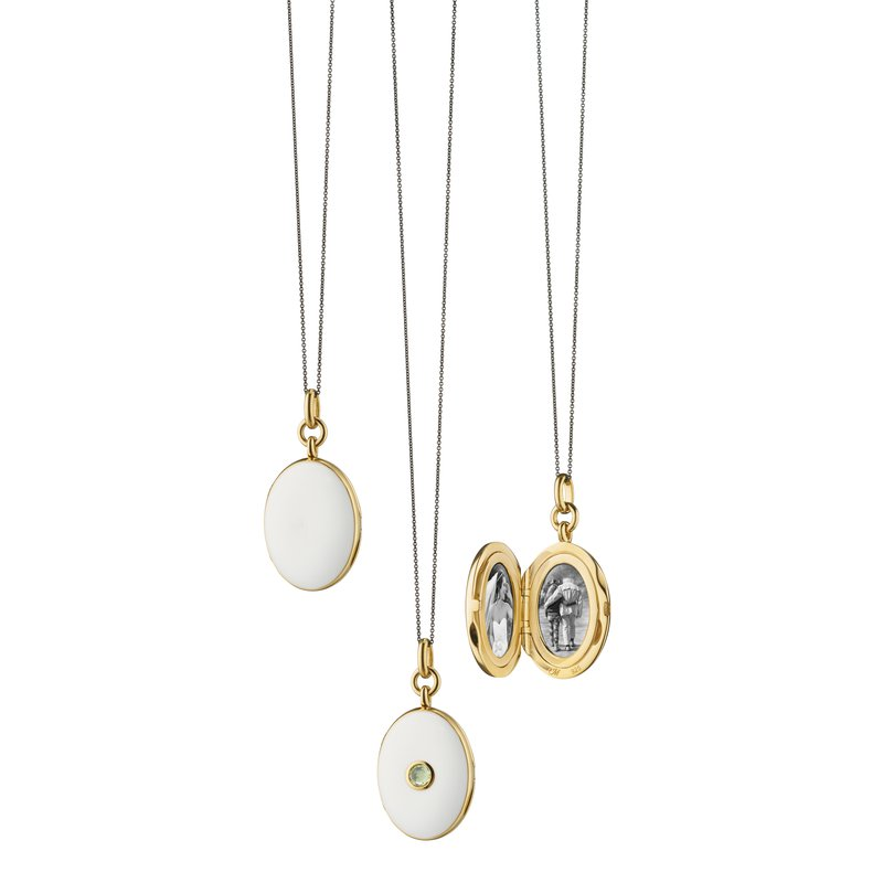 "Monica Rich Kosann Oval Locket Necklacet Length 16"" adjustable to 17"""