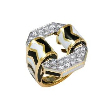 Chevron Ring 6