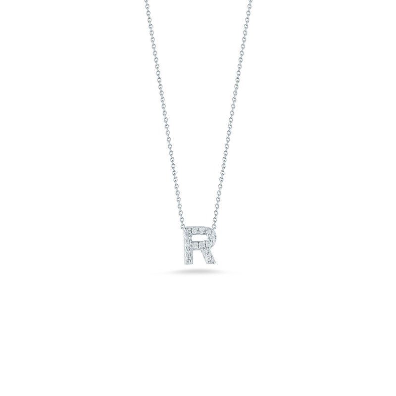 """Roberto Coin Love Letter R Necklace Length 16"""" adjustable to 18"""""""