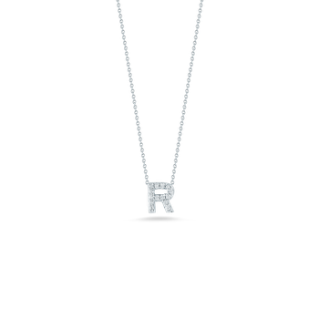 "Love Letter R Necklace Length 16"" adjustable to 18"""