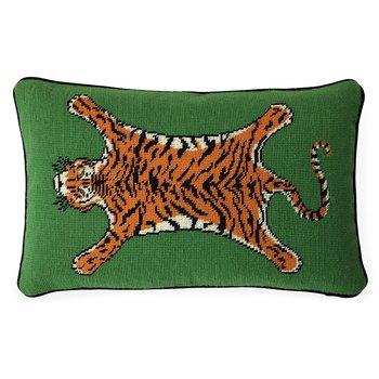 Tiger Needlpoint Pillow