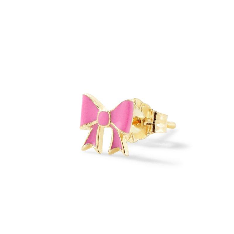 Alison Lou Single Bow Stud Earring