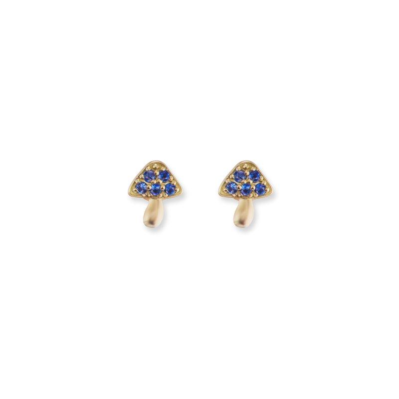 Brent Neale Tiny Mushroom Stud Earrings