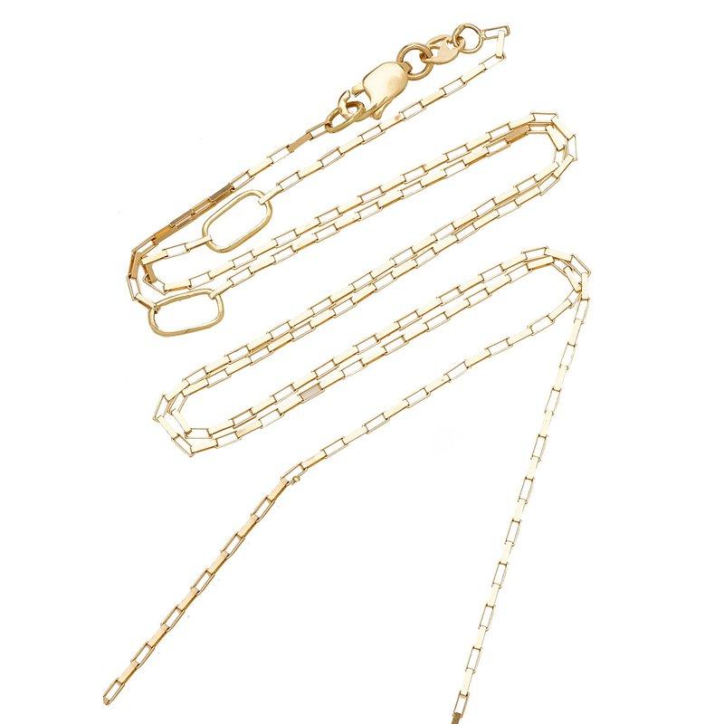"Carol Kauffmann Medium Link Chain Length 20"""