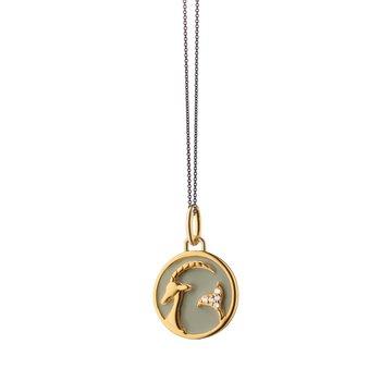 "Mini Capricorn Charm Necklace 17"" Length"