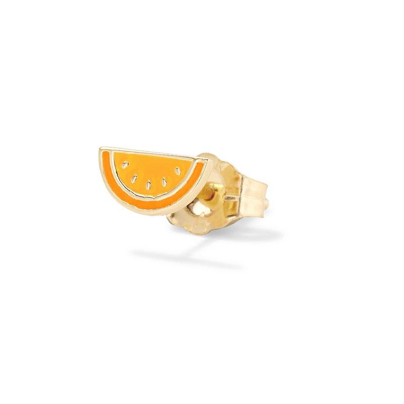 Alison Lou Orange Citrus Single Stud Earring
