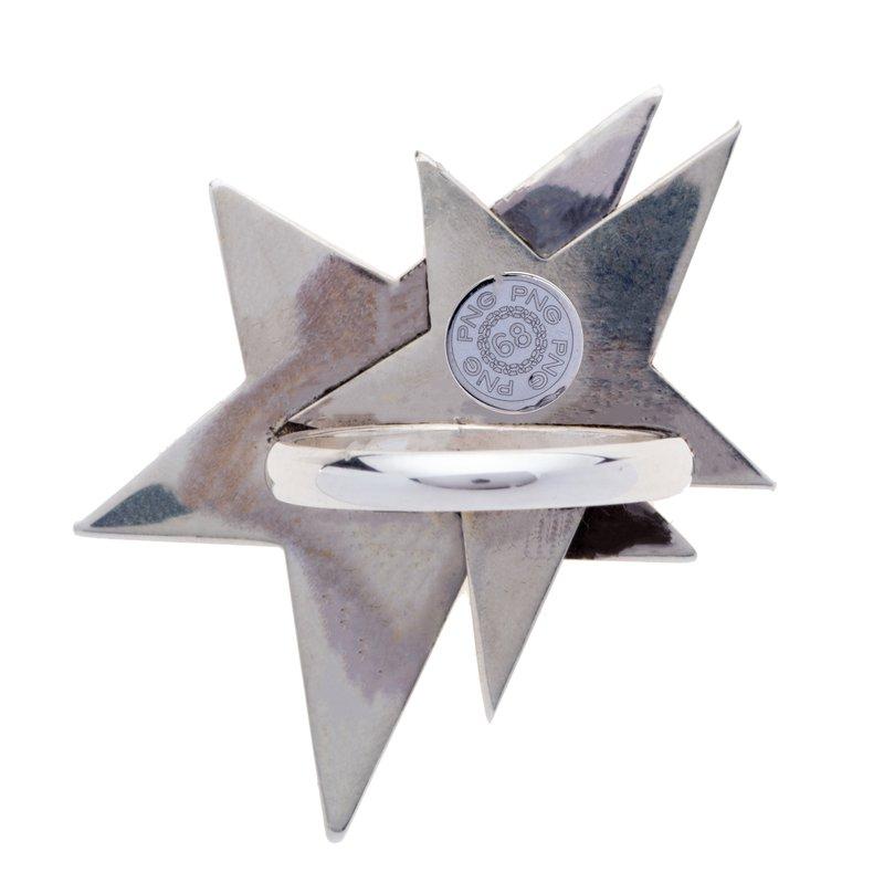 Franco Pianegonda Heart & Star Ring Size 7