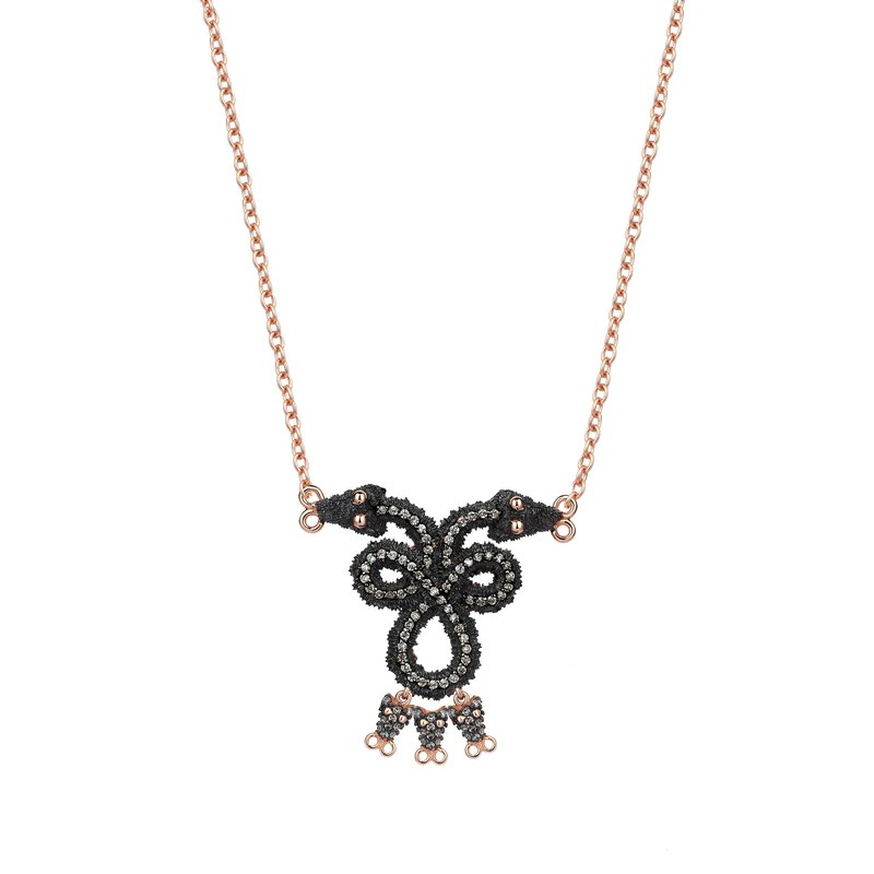 Kismet by Milka Twin Serpent Necklace