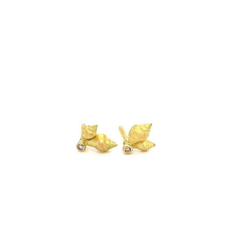 Lene Vibe Small Double Shell Stud Earrings