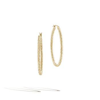 Motif Large Oval Hoop Earrings