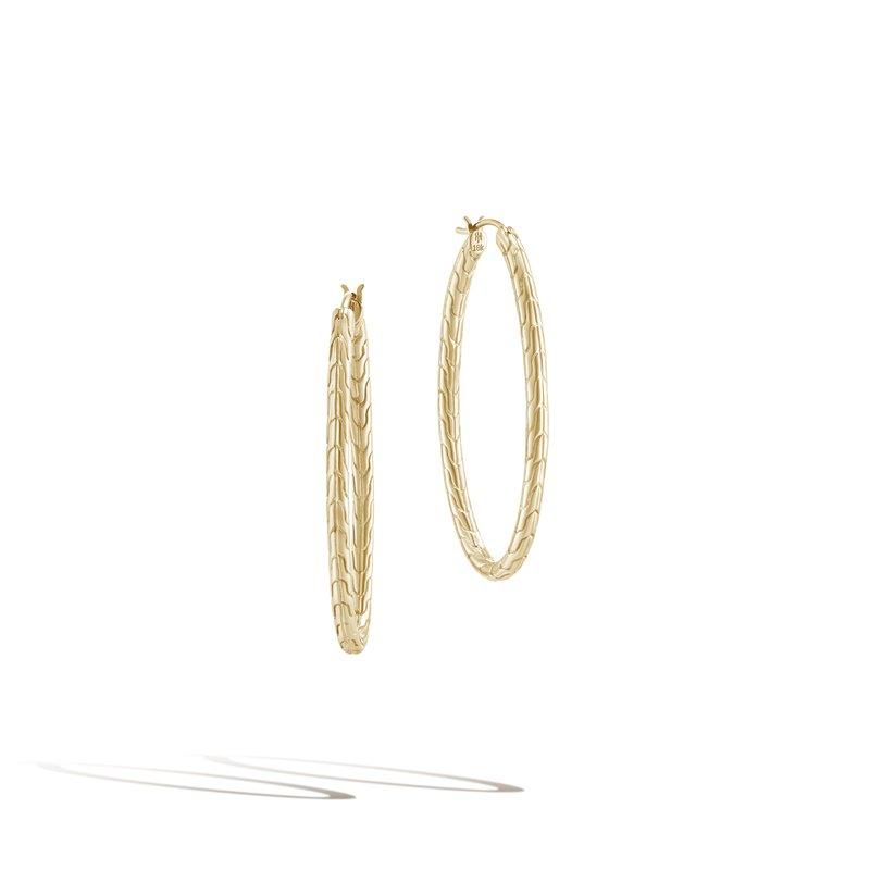 John Hardy Motif Large Oval Hoop Earrings
