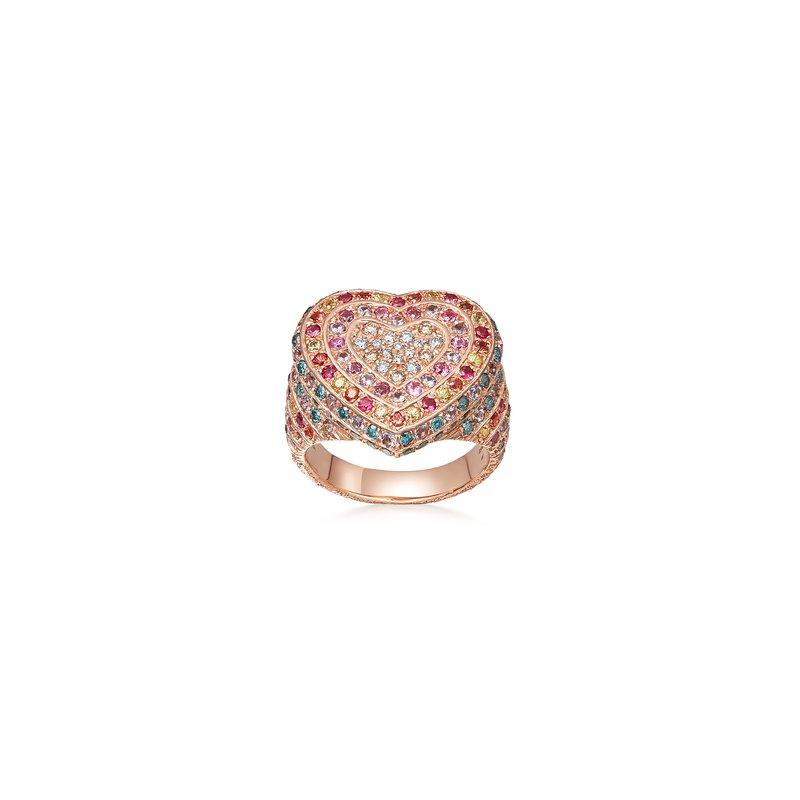Carolina Bucci Heart Ring Size 8
