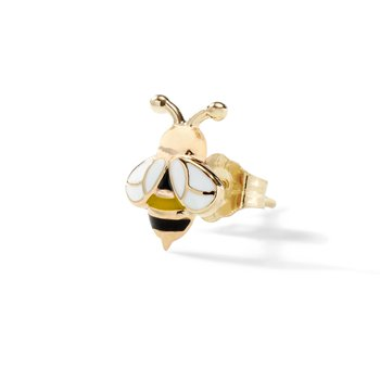 Single Bumble Bee Stud Earring