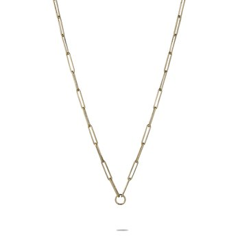 """Oval Chain Necklace Length 17"""""""
