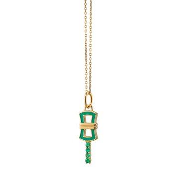 "Mini Key Necklace 17"" Length"