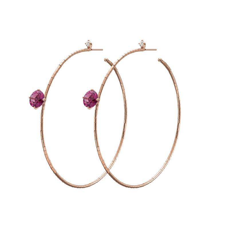 Mattia Cielo Large Hoop Earrings