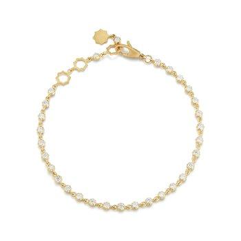 "Small Sophisticate Line Bracelet Length 7"""