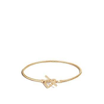 Toggle Clasp Heart Bracelet Size Small
