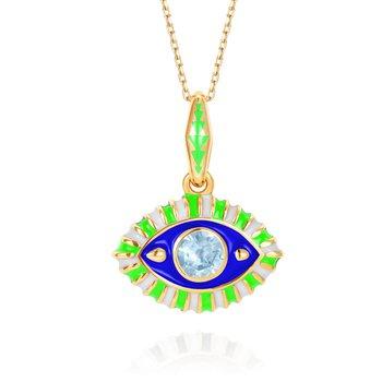 "Eye Necklace 16"" Length"