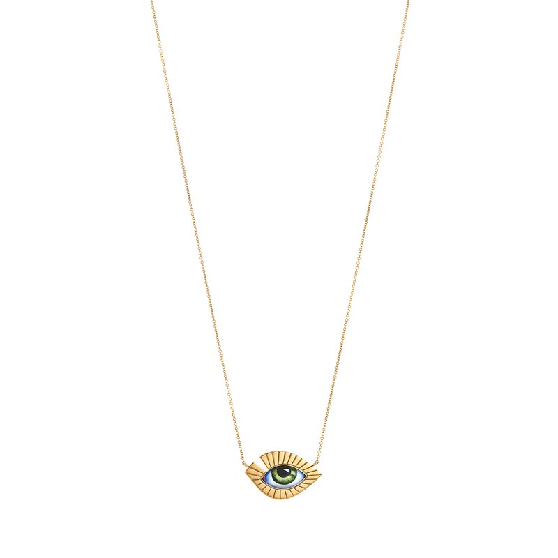"Lito Karakostanoglou Eye Necklace Length 16"""