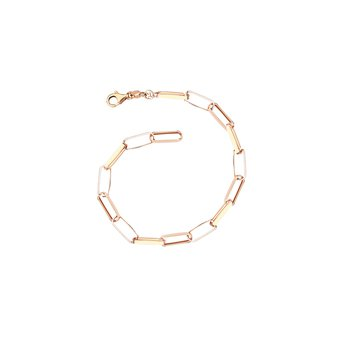 Oval Hollow Chain Bracelet Lenght 7.25