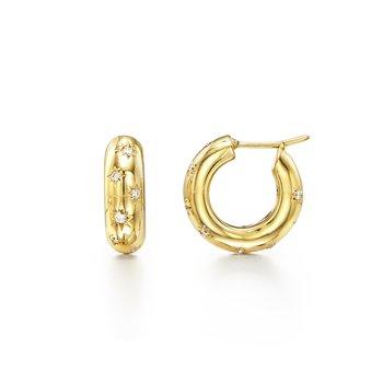 Small Cosmos Hoop Earrings
