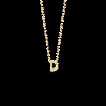 "Love Letter D Necklace Length 16"" adjustable to 18"""