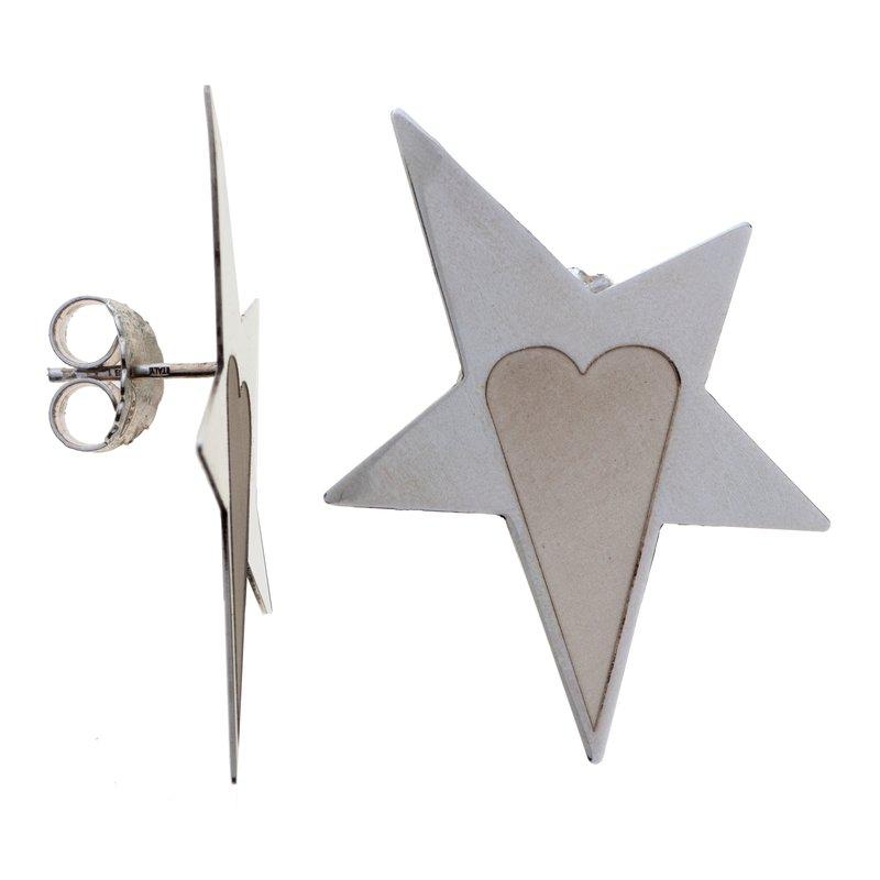 Franco Pianegonda Star & Heart Small Earrings