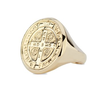 St. Benedict Signet Ring Size 7