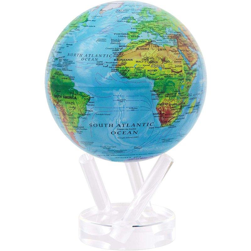 "MOVA 4.5 "" Relief Map Blue Globe"