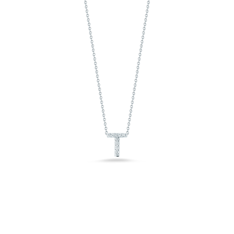 """Roberto Coin Love Letter T Necklace Length 16"""" adjustable to 18"""""""