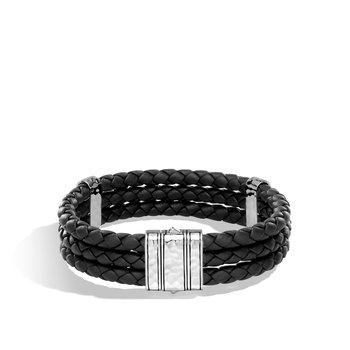 3 Row Hammered Bracelet Size Medium