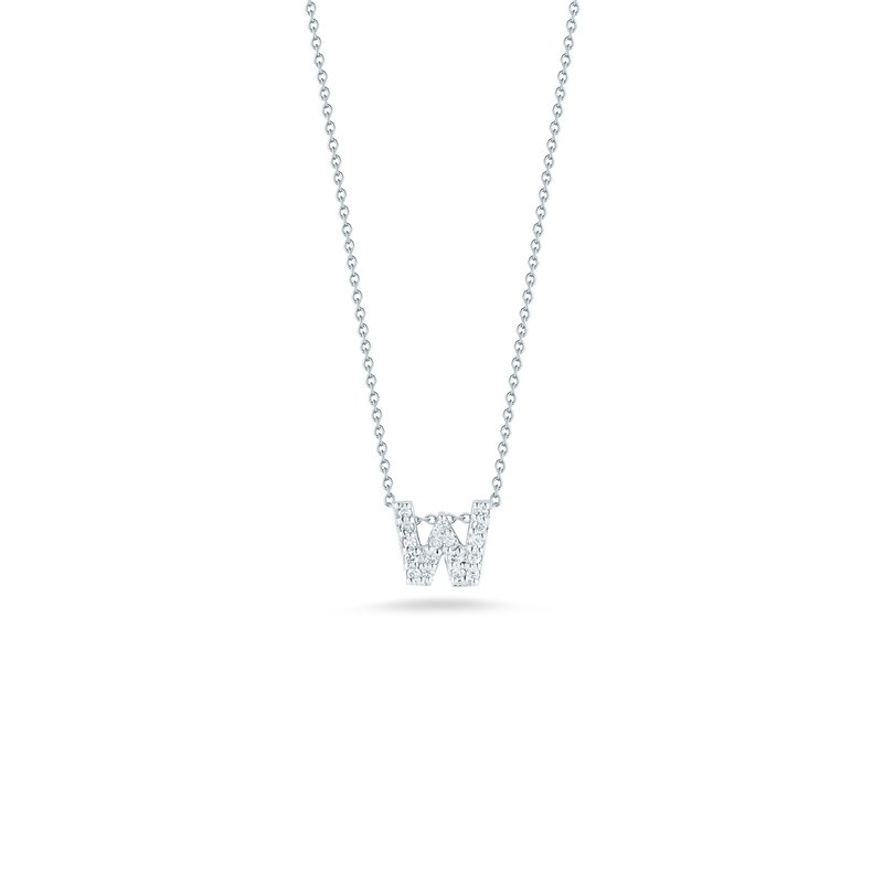 """Roberto Coin Love Letter W Necklace Length 16"""" adjustable to 18"""""""