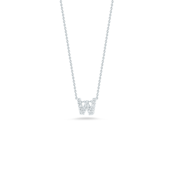 """Love Letter W Necklace Length 16"""" adjustable to 18"""""""