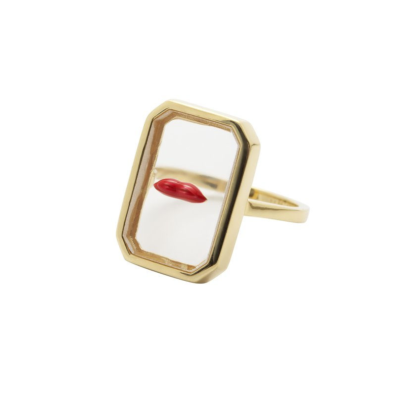 Eshvi Clear Lips Ring