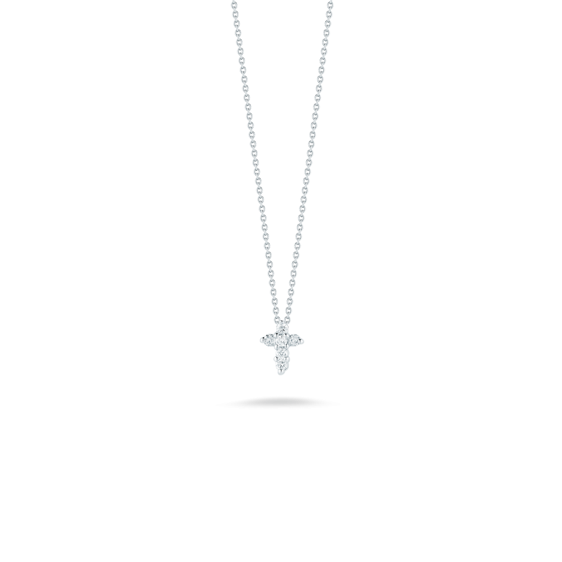 """Roberto Coin Baby Cross Necklace Length 16"""" adjustable to 18"""""""